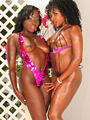 Amile Waters and Osa Lovely weren't going to let the absence of real cock deter them from having a..