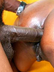 Black whores juicy pussy leaks black mans jizz