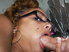 Black Girl Fucks & Sucks White Dick At Gloryholexxx. Angel Cummings