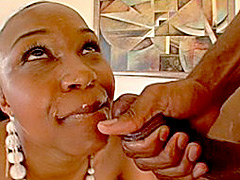 Ebony milf getting fucked by black guy. Vida Valentine