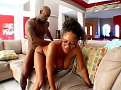 Sexy old black mom gets fucked by young stud. Jeanie