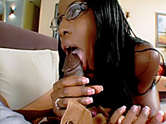 Hot black mom sucks and fucks younger cock. Lady Armani