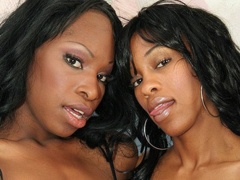 Several sex toys get used by these hot lesbian sistahs. Alana Play & Madison Luv