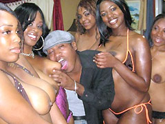 Brown Sugarr works cock and takes it in every hole. Brown Sugarr