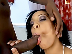 Hot ebony opens up her ass for a fuck. Jazmine Cashmere