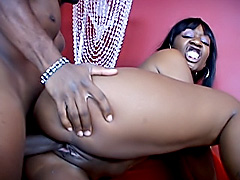 Smoking black chick getting ass fucked. Beauty Dior
