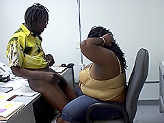 Ebony BBW gets a dick inside her snatch. Char Lee Redd