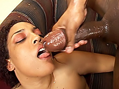Thick black babe milks a cock dry. Cheyanne Foxxx
