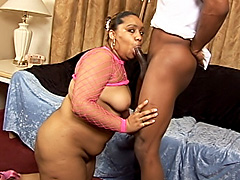 Black BBW has her thick snatch hammered. Alize