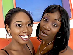 Ebony lesbos stick toys into each other. Delotta Brown & Beauty Dior