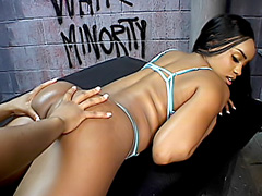 Ebony cunts get licking and hard fucking. Sandi Jackman & Tamara Lemoure