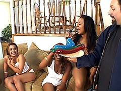Foursome orgy with sappy black dykes. Kandi Kream & Renee & Chastity & Nina