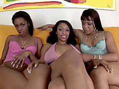 Raunchy threeway lesbian fuck party. Carmen Hayes & Dena Caly & Kim Pleasures
