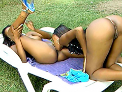 Black lesbians on a pussy eating fest. Dena Caly & Devine