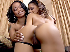 Black whores lick each other's snatches. Niyla Knight & Destiny Dicks