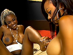 Black cuties make their snatches drip. Lacey Duvalle & Coco Pink