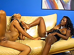 Black lesbians make their snatches cum. Nyomi Banxxx & Misty Stone
