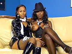 Kinky ebony lesbian fucks her girlfriend. Nyomi Banxxx & Misty Stone