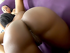 Ebony lesbians fuck with a double dong. Misti Love & Beauty Dior