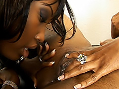 Hot black chicks licking and fucking. Angel Eyes & Cherokee D Ass