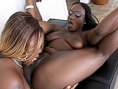 Black girls eat and fuck their pussies. Hershey & Queen B