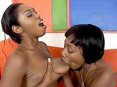 Black lesbians skilled at pussy pleasing. Delotta Brown & Misti Love
