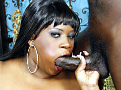 Black BBW bimbo bent over and getting fucked hard doggystyle. Nathan Threat, Mz. Caution