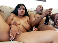 Busty ebony princess Lexi Doll enjoys hot anal sex for cumshot