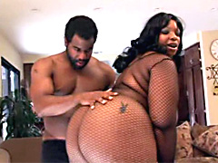 Chubby black babe Crystal Clear, porn video