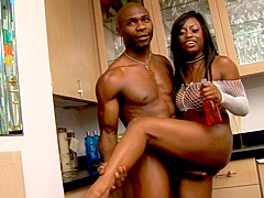 Jada Fire's been lusting for big black cock for a long time and now all her horny wet dreams are..