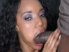 Today Kapri Styles got a hot surprise, her face is filled, mouth and ears in sperm