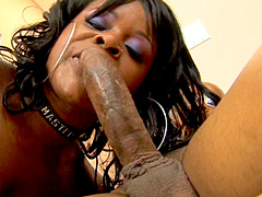 Nyeema Knoxxx always wanted to fuck a big dick and now she's got one in her hotel room and she's..