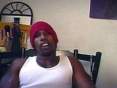 Star Boy is a hung ebony stud that loves having other guys watch him. He set up a camera at his..