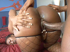 Big black woman Aryana Starr was a fucked in doggy style by a Prince Yahshua