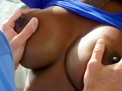 Perfect big black tits, this babe have fantastic black body and really big tits, watch this breast..