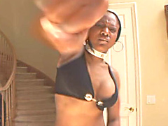 Black BBW, Pebbles, hungry for cum knows there's only one way to get what she wants. She's picked..