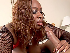 Black babe gets her large ass fucked hard