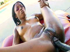 This black dude have real huge cock and he drills thin ebony babe so hard in these video
