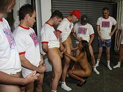 Black porn gang bang video. Porn star name - Melody Nakai