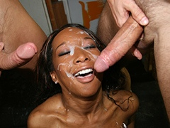 Black porn gang bang video. Porn star name - Stacey Cash