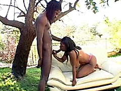 Huge juicy boobs are shown ebony by the whore by name of Bambi. This saggy boobs are poured by..