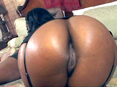 Camrie Foxx bends over in front of him and spreads her big booty cheeks, showing him her sweet..