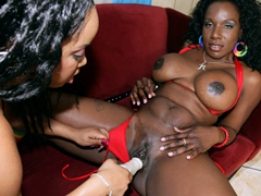 These two black chicks have very juicy bodies! It's too bad that they're all about the pussy,..
