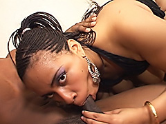 Chubby black babe gets her snatch fucked