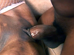 Cock-starved black girl Cherokee D Ass fuck with pleasure. ?obby fucker stretches her pink..