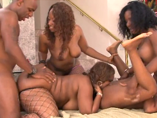 Big ass ebony orgy