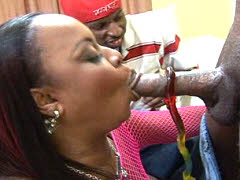 Ebony babe is double dipped in chocolate. Suckable