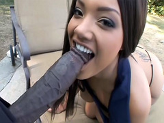 Ebony cutie Catalina Taylor sucks BBC