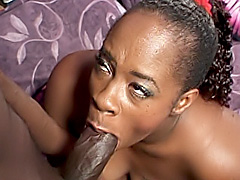 Horny black babe takes a cock in her ass