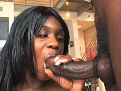 Sole Dior is a hot black cock sucker who can't get enough cock to suck. It's not that she doesn't..